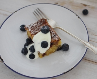 Blueberry and Orange Polenta Cake