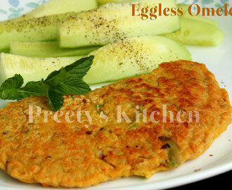 Eggless Vegan Omelette / Healthy Breakfast Recipe