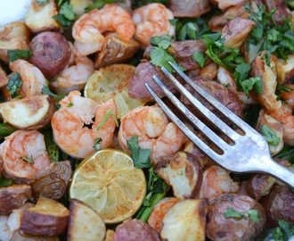 Sheet Pan Chipotle Lime Shrimp Bake – #FishFridayFoodies
