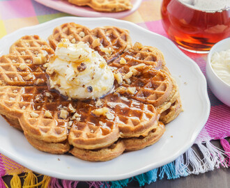 Carrot Cake Waffles and Easter Round-Up