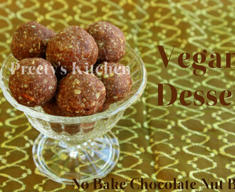 No Bake Chocolate Nut Balls ( Vegan Dessert )