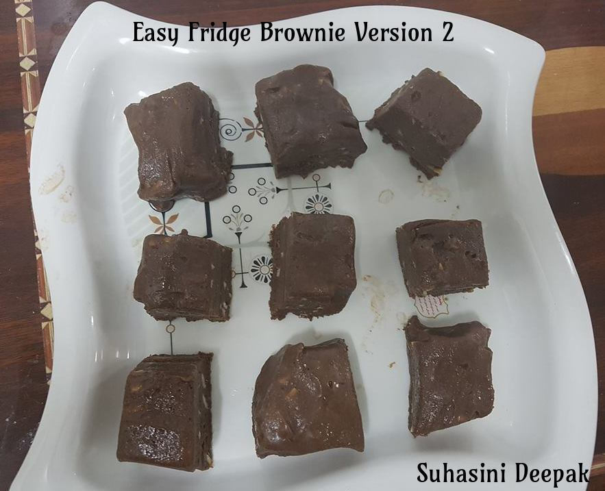 Easy Fridge Brownie Version 2 No Bake Recipe