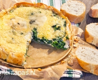 Mini quiche met spinazie en gorgonzola