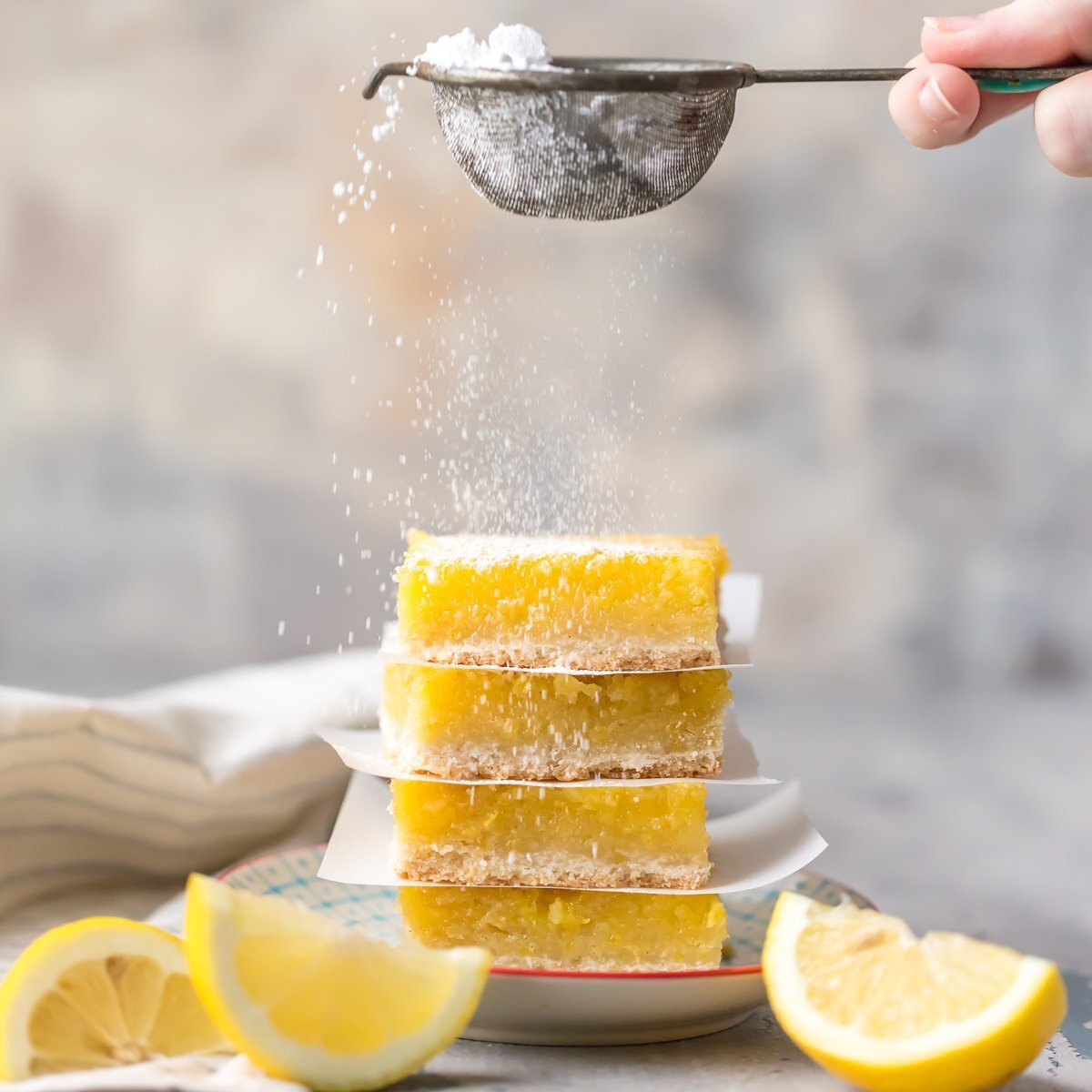 Gluten Free Lemon Bars (BEST EVER)