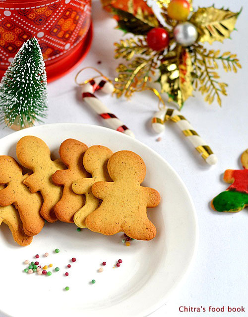 Eggless Gingerbread Man Cookies With Royal Icing- Christmas Recipes