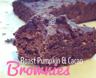 Roast Pumpkin and Cacao Brownies