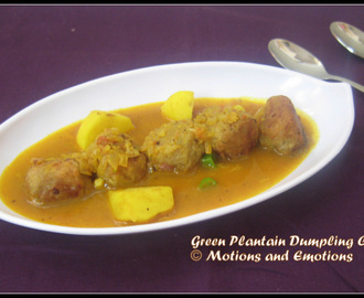 Green Plantain Dumplings/Green Plantain Dumpling Curry/Kanchkolar Kofta Curry
