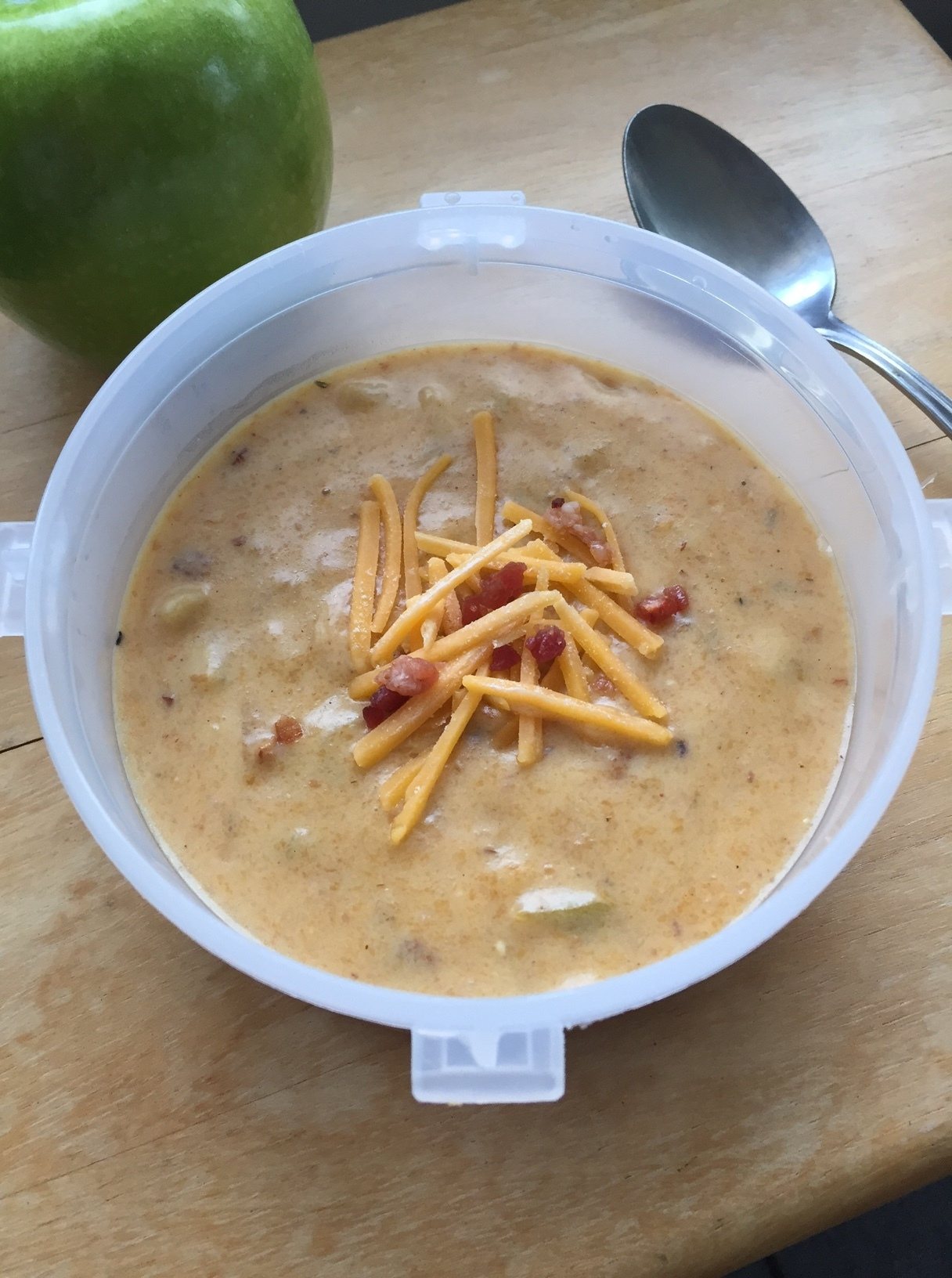 Cheesy Apple Beer Soup