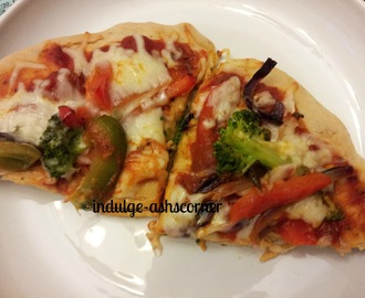 Homemade Roasted veggie PIzza