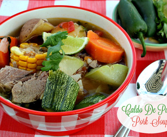 Pork Caldo {Pork & Vegetable Soup}
