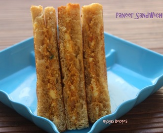 Paneer Sandwich Recipe - Easy Paneer Sandwich Recipe