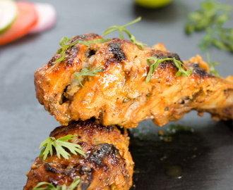 Oven Baked Tandoori Chicken Recipe | How to make easy Tandoori Chicken with Marinade [+Video]