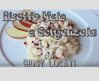 Risotto con gorgonzola e mele del Trentino – il mio cooking show per Vinitaly and the City