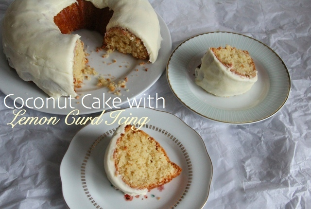 Coconut Cake with Lemon Curd Icing