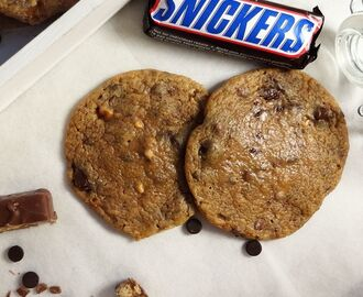 Snickers- & Chocolate chip cookies – Fridas Bakblogg