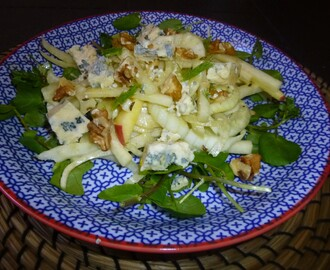 Fennel, Kohlrabi and Apple Blue Cheese Salad with a Fennel and Mustard Dressing Recipe