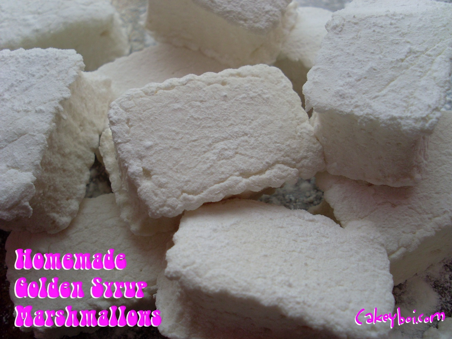 Homemade Golden Syrup Marshmallows