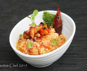 Recipe Crayfish Risotto with Saffron and Sun Dried Tomato with Germinated Brown Rice