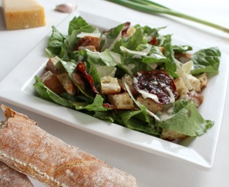 Simple Salad Series: Caesar Salad with Truffle Salami Chips