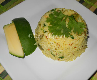 Raw Green Mango Rice / Kairi Bhat