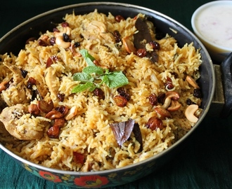 Pressure Cooker Chicken Biryani / One Pot Biryani - Ramzan Special Recipes