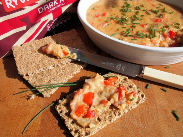 5:2 Diet – A Fabulous Vegetarian Red Pepper, Lentil and Cheese Pâté (Spread) Recipe