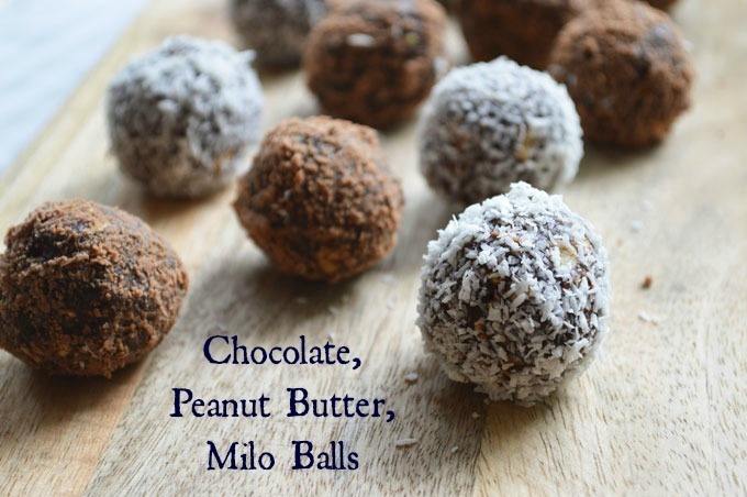 Chocolate, Peanut Butter, Milo Balls