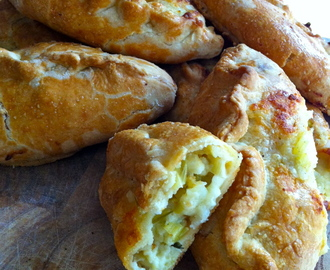 Cheese, leek and marmite pasties