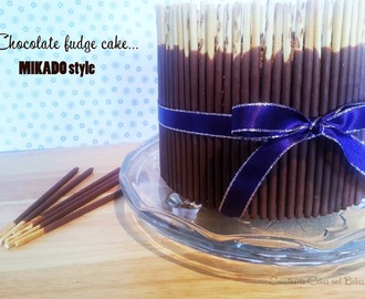 Chocolate fudge cake... Mikado style!