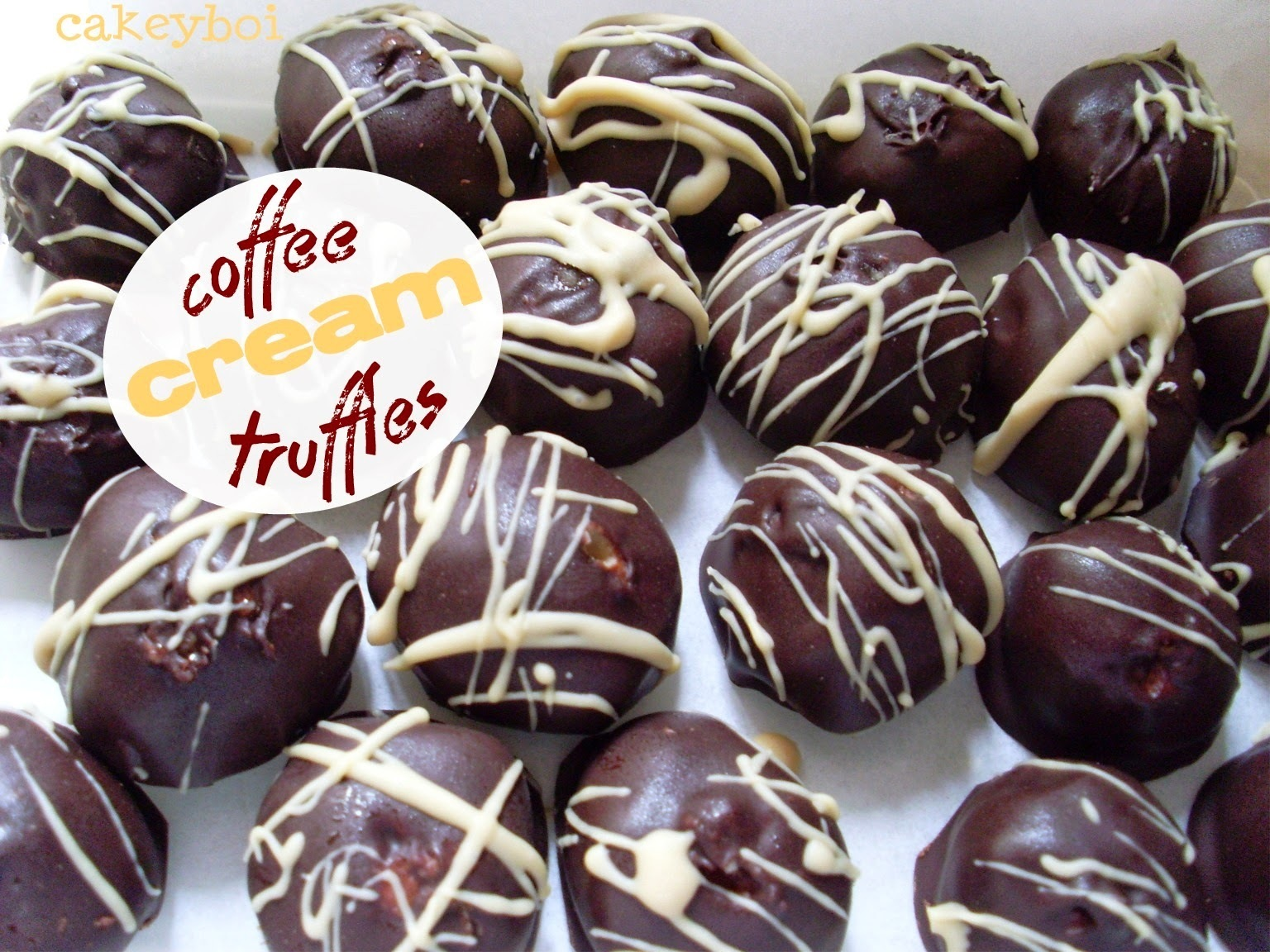 Coffee Cream Truffles