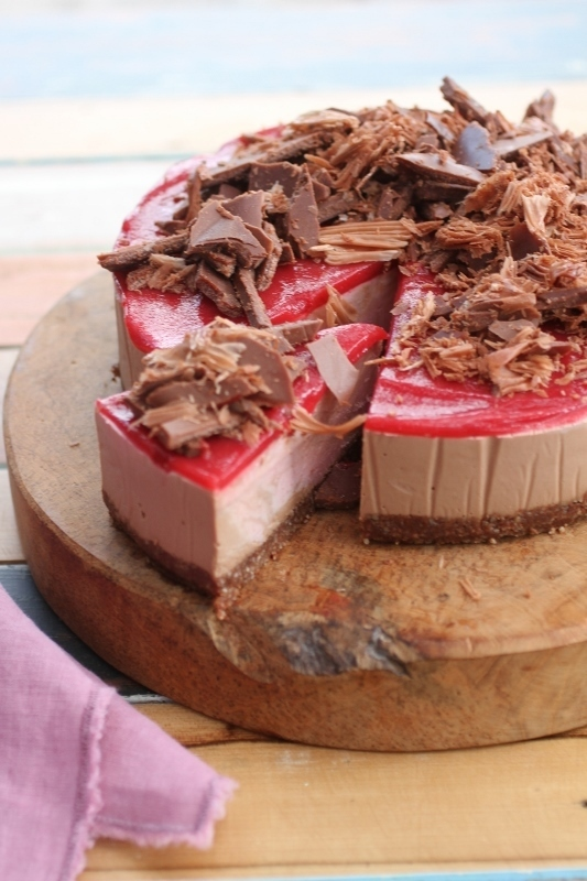 Cacao and Raspberry Cheesecake