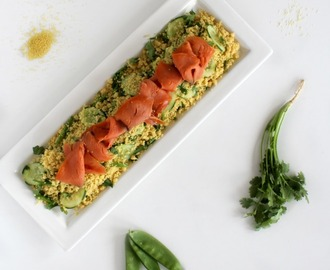 Simple Salad Series: Miso CousCous Salad with Smoked Trout
