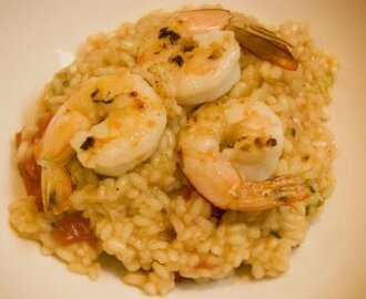 Prawn and gorgonzola risotto ... in the Thermomix