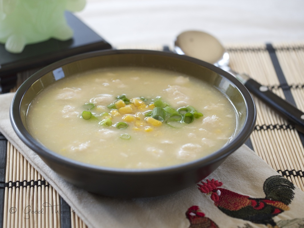 Chicken velvet and sweet corn soup