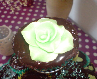 Deilige After eight cupcakes
