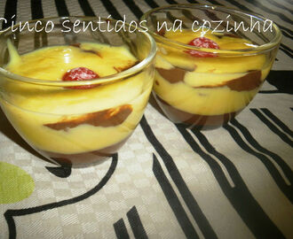 Duo de custard e chocolate