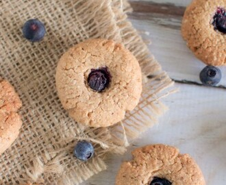 Blueberry drop biscuits aka monkey eyes