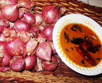 Ulli Theeyal(Shallots in Roasted Coconut Gravy)