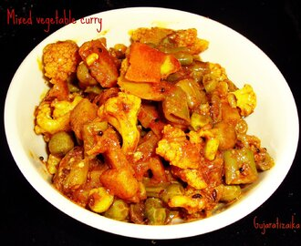 Mix saak (Mixed vegetable curry) no onion no garlic recipe