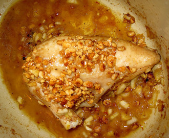 cooking ottolenghi at home: roast chicken with saffron, hazelnuts and honey