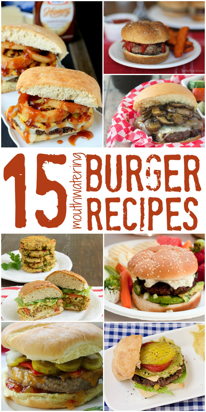 15 Mouthwatering Burger Recipes