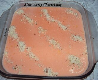 Eid Mubarak!!!!!!!!!!!!!And Strawberry Cheese Cake