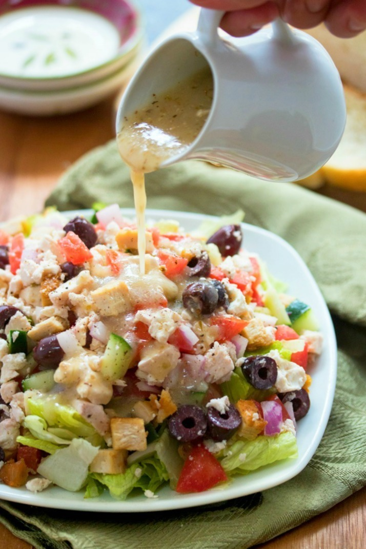 Greek Salad with Homemade Feta Dressing