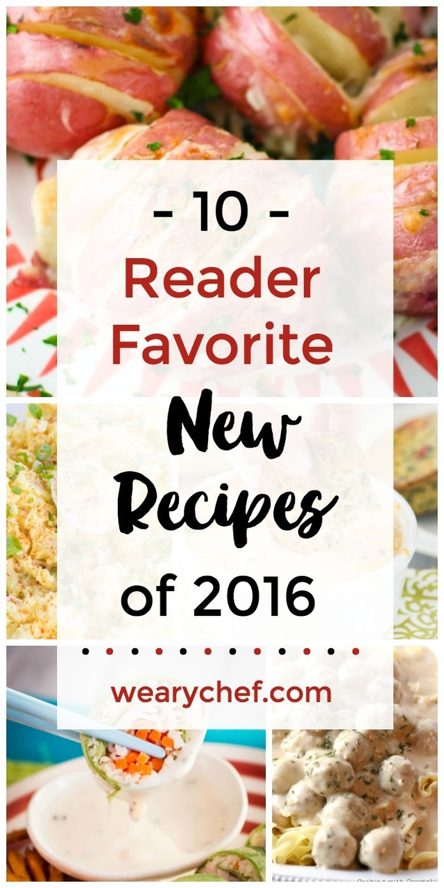 Most Popular NEW Recipes in 2016