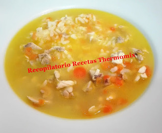 Sopa de pollo y arroz en Thermomix