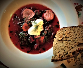 on New Year's resolutions and Chef Rundle's borscht with vushka