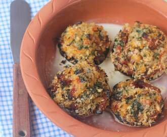 Med style stuffed mushrooms