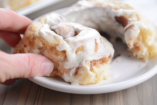 Flaky Buttermilk Biscuit Cinnamon Rolls {No Yeast, No Rising}