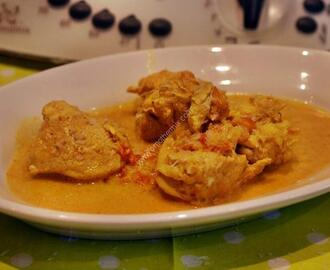 chicken breast with coconut milk and curry  with thermomix of Vorwerk