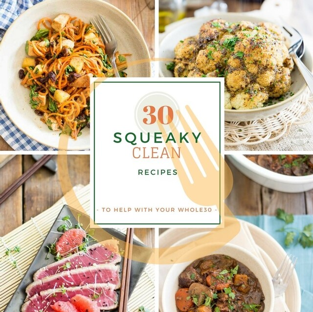 30 Squeaky Clean Recipes to help with your Whole30